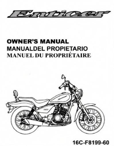 Manual de Usuario Yamaha Enticer YBA 125